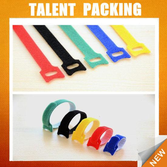 6dc5f2611031 China Custom Logo Nylon Hook and Loop Reusable Magic Cable Tie ...