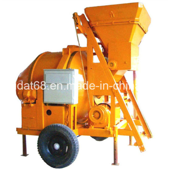 China 350L Electric Concrete Mixer (wire hoisting tipping