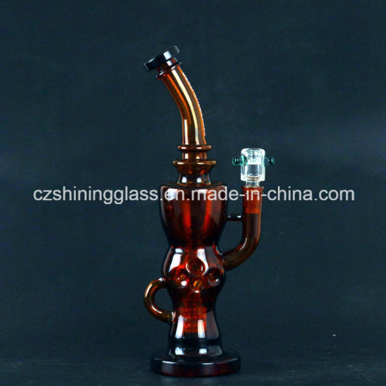 China Best Selling Amber Color Wholesale Glass Water Smoking