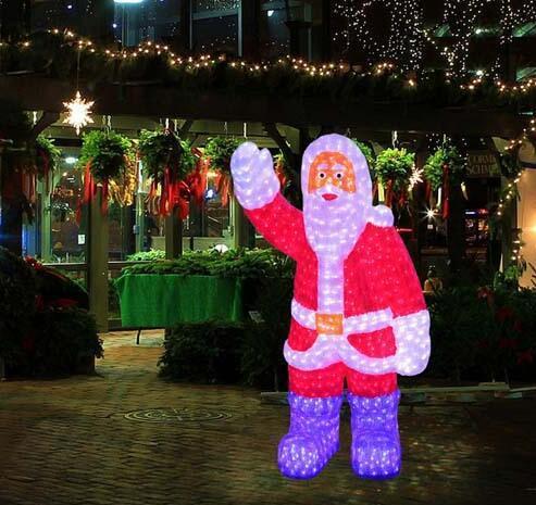 3d acrylic christmas santa motif outdoor christmas decoration light - 3d Acrylic Christmas Decorations