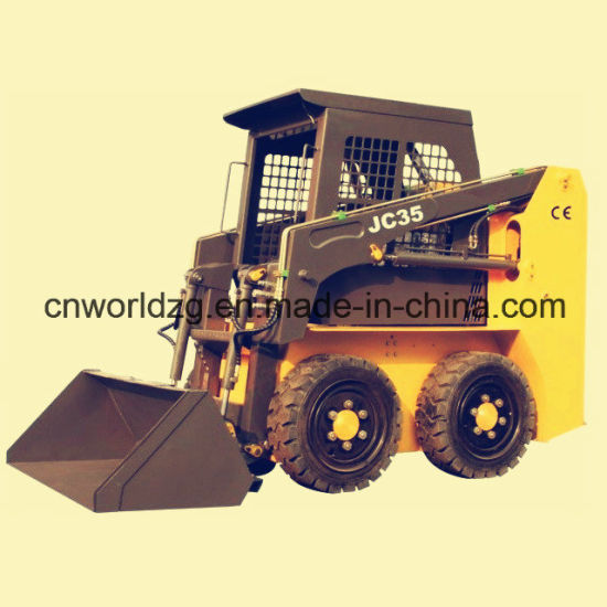 World Brand Wheel Type Skid Steer Loader for Sale pictures & photos
