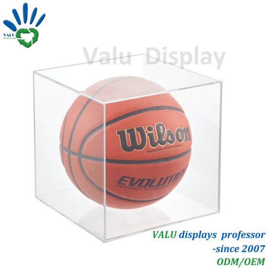 Clear Acrylic Basketball/Football/Soccer/ Ball Display Box