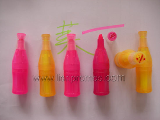 Beverage Drive Promotional Gift Bottle Shape Highlighter pictures & photos