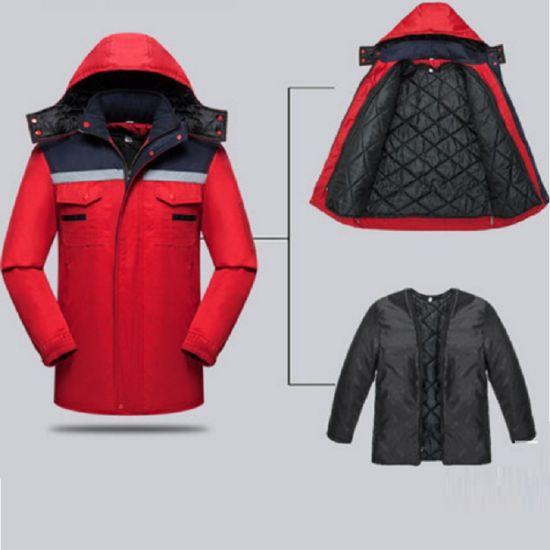 Hi-Vis Detachable Outdoor Padded Winter Coat Work Wear