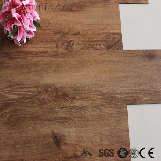 China Peel And Self Stick Lvt Vinyl Floor Tile Wood Color China