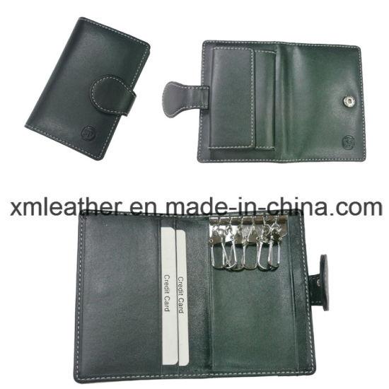 Leather Custom Keychain Key Holder with Credit Card Holder