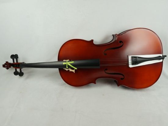 OEM ODM Satin Finish Red Brown All Solid Purflied Inlaid Cello pictures & photos