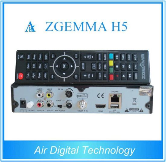 2016 Latest High CPU Zgemma H5 FTA HD TV Sat Receiver Dual Core Linux OS E2 Hevc/H. 265 DVB-S2+ Hybrid DVB-T2/C Twin Tuners pictures & photos