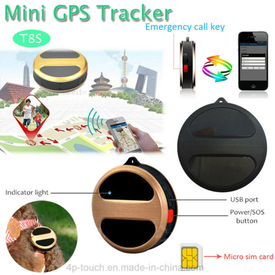 Sos Button Mini Personal GPS Tracker with Call Function T8s pictures & photos