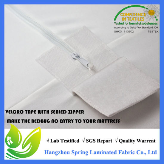 Lab Certified Terry Bed Bug Proof Anti-Bacterial Zipper Sealed Mattress Encasement pictures & photos