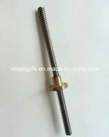 Set Trapezoidal Lead Screw and Bronze Flanged Nut Tr8X4 (p2) pictures & photos