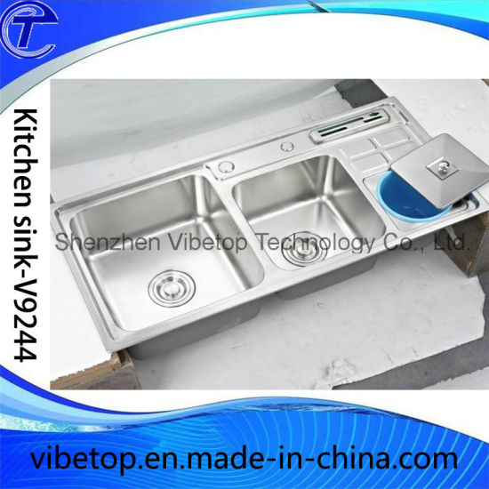 Cheapest Factory Outlet Stainless Steel Double Kitchen Sink pictures & photos
