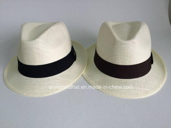 de5fa764639d3 China High Quality Paper Straw Panama Classics Fedora Hat - China ...
