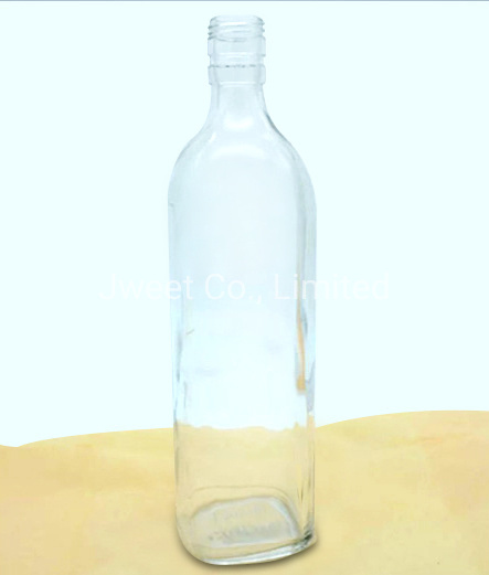 Manufactory Round Clear Glass 1000ml Sake Alcoholic Glass Bottle