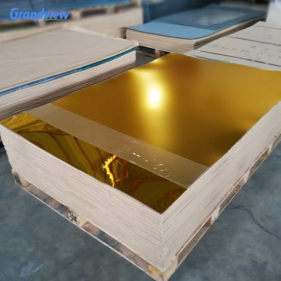 Flexible Gold 1mm 2mm 3mm Mirror Acrylic 2 Way Mirror Sheet