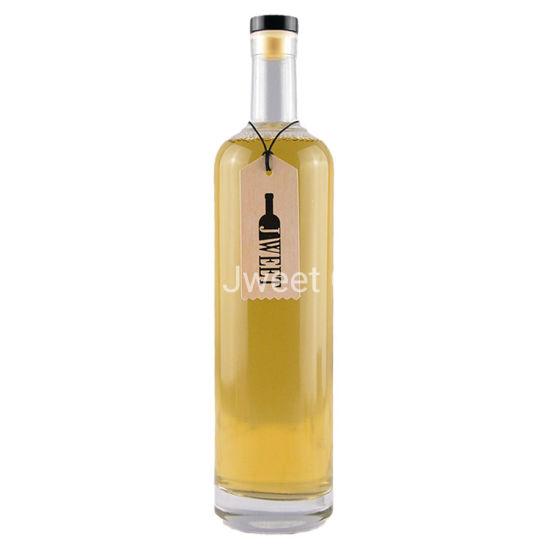 Custom Round Clear Wholesale Liquor Gin Vodka Tequila Glass Bottle