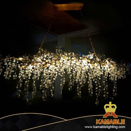 Contemporary Restaurant Hotel Luxury Decorative Brass Chandelier (KAC01)