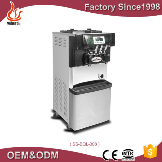 New Arrival Hot Sale Italian Soft Ice Cream Cone Making Machine for Wholesale Price/Three Flavor Soft Ice Cream Machine
