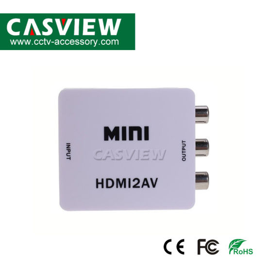 1080P Mini HDMI to AV Converter HDMI RCA AV/Cvsb L/R Video 1080P HDMI2AV pictures & photos
