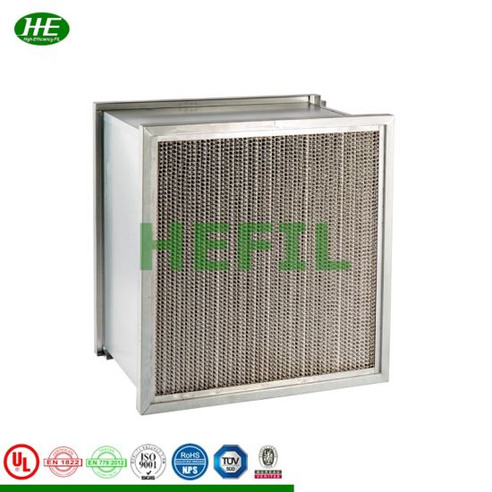 Stainless Steel Frame High Temperature Oven H13 HEPA Air Filters