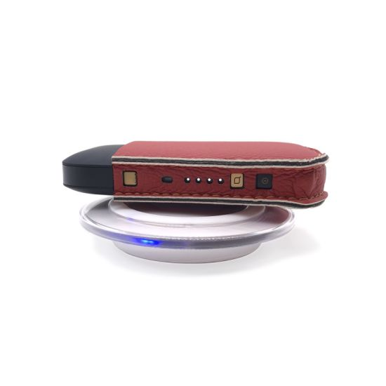 China Leather Case with Wireless Charging Receiver for Iqos