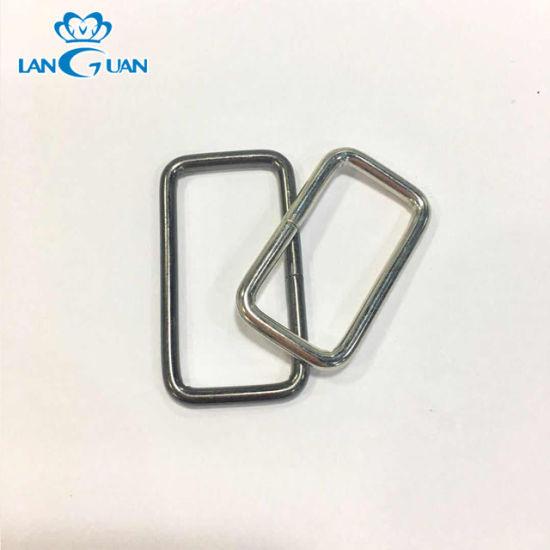 Handbag Handle Zinc Alloy Rings Bag Metal Square Buckle