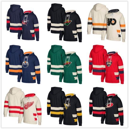 new style 3a0f1 85cf3 Custom Hockey Edmonton Oilers Detroit Red Wings Design Pullover Hoodie