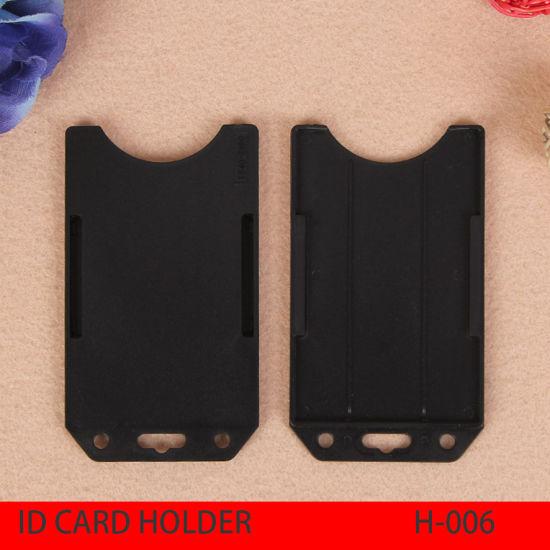 Plastic Badge ID Credit Card Holders, Wholesales Card Holder, Black Bank Card Holder, Promotional Card Holder