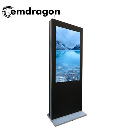 55 Inch Wind-Cooled Vertical Screen Landing Outdoor Advertising Machine Media Display LCD Network Advertising Player LED Digital Signage