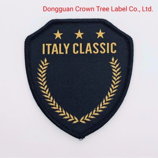 Customized Brand Name High Density Woven Badge