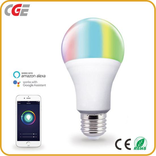 Wireless WiFi Smart Light Bulb Compatible with Alexa and Google Assistant, 850lm 10W Multicolor Dimmable LED Lights Bulb