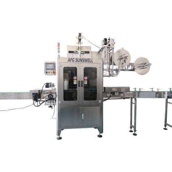 Automatic Plastic Bottle PVC Sleeve Shrink Labeling Packaging Machine