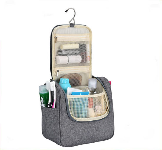 Distributor Portable Easy Carry Display Women Waterproof Washed Wet Polyester Travel Makeup Cosmetic Toiletry Toilet Beauty Washing Bag