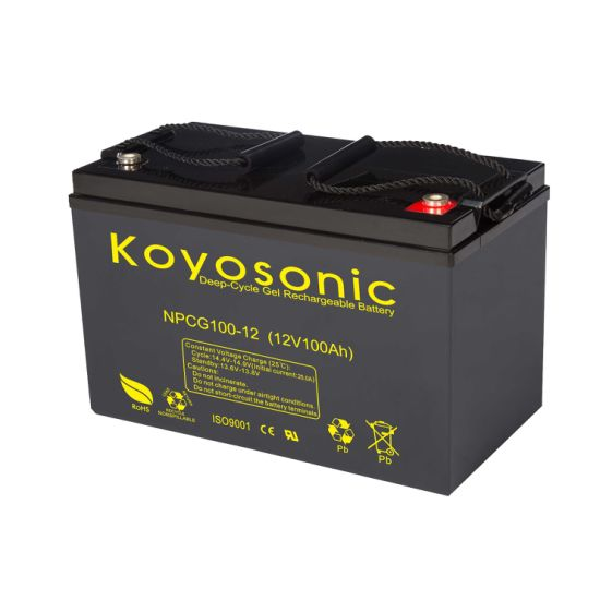Rechargeable 12V 100ah Gel Deep Cycle Storage Battery