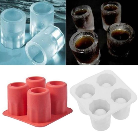 Glass Shape DIY Customized Ice Mold Silicone Ice Cube Trays