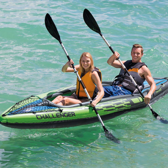 Customized Color 2 Person Drop-Stitch Inflatable Pedal Fishing Kayak
