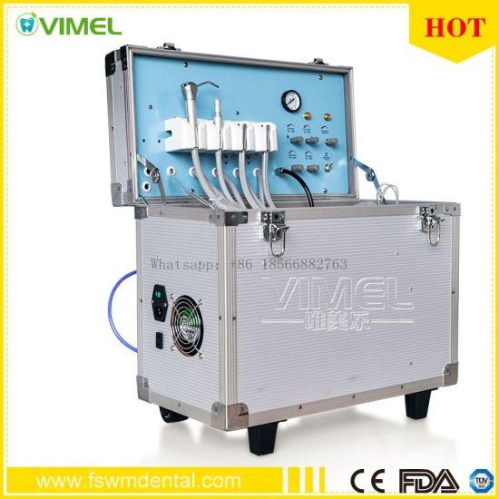 Dental Portable Turbine Unit Suction Work+Air Compressor+3 Way Syringe Ce