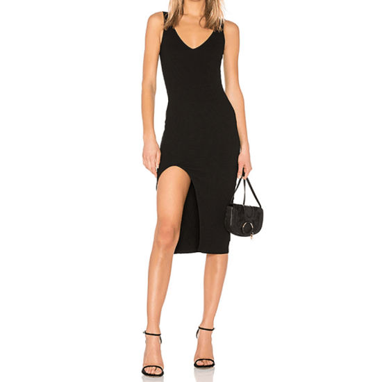Fashion Sexy V Neck Sleeveless Dress Casual Backless Slip Dress pictures & photos