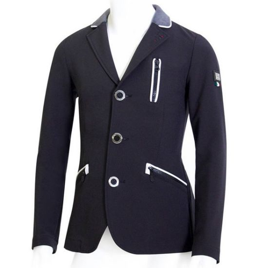 Professional Custom Equestrian Club Equestrian Suit Expensive Men's Black Slim Gentleman Horse Riding Jacket