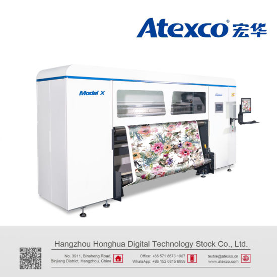 Atexco Model X Digital Sublimation Textile Printer with 8 Kyocera Printing Heads