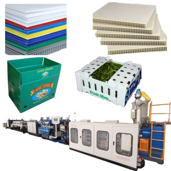 PP Corrugated Hollow Sheet Plant for Making Plastic PP Hollow Sheet, Package Box