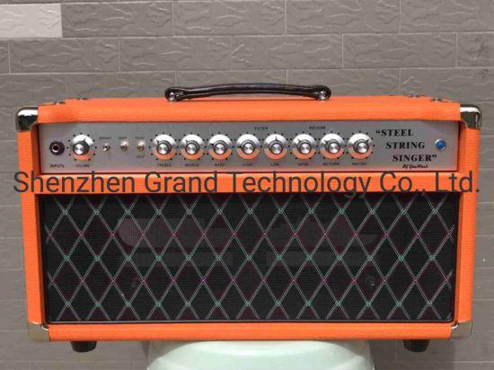 Mighty Force Custom Shop Clean Deluxe Handwired Steel String Singer SSS Guitar Amplifier 50W