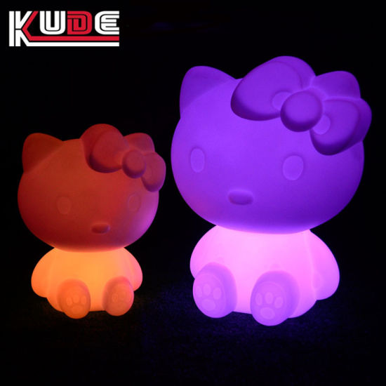 Cordless LED Table Lamps Colorful Cat Decoration Lamps pictures & photos