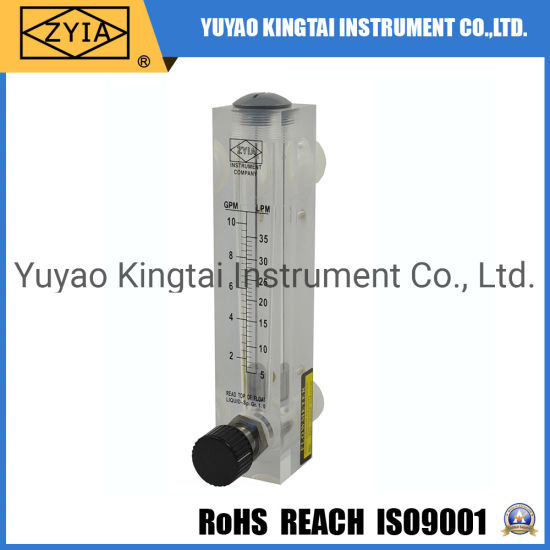 2gpm 5gpm Panel Mount Cheap Rotameter for Water with Valve for RO Systems