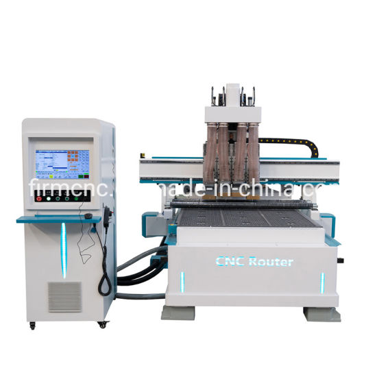 Pneumatic 4 Heads Atc CNC Wood Router MDF Furniture Engraving Cutting Machine