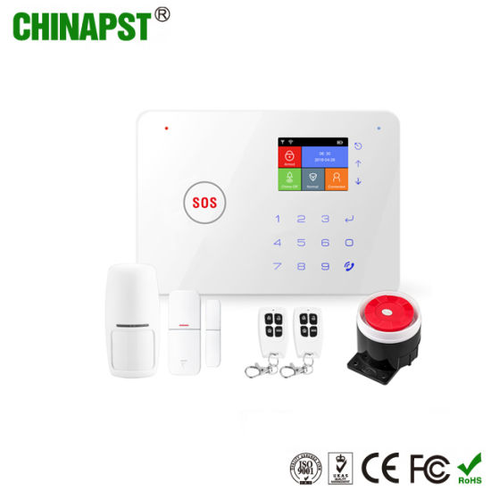 Wholesale Price Wireless WiFi/GSM Home Alarm with Touch Key (PST-G66W) pictures & photos