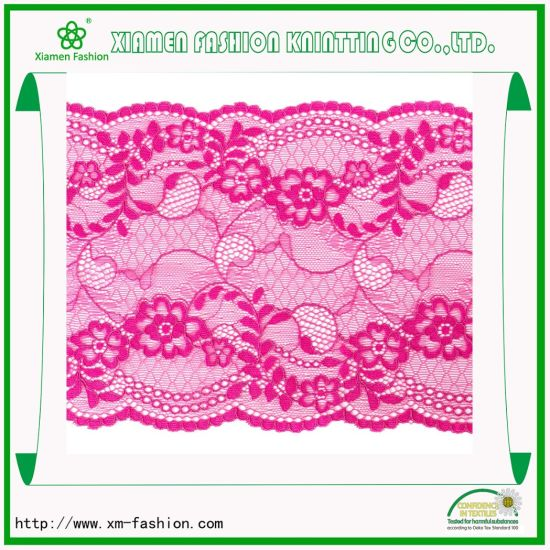 Leaf Style, Jacquard and Raschel Trim Lace for Ladies Underwear pictures & photos
