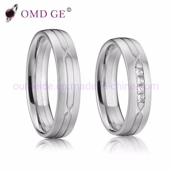 China Wholesale Superior Titanium Wedding Rings For Couples