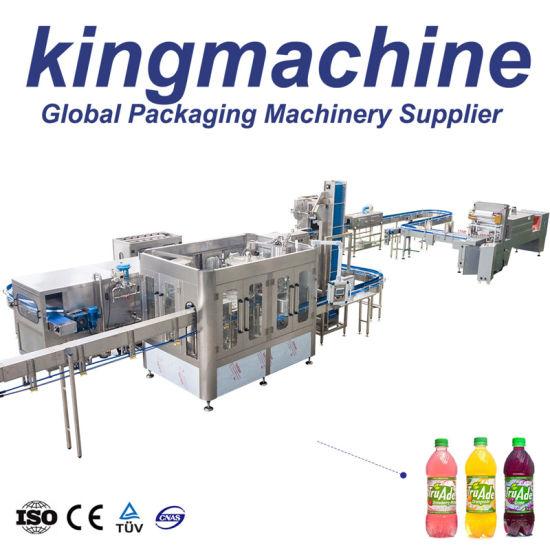 Complete Fruit Juice Processing Plant Pet Bottle Apple Beverage Juice Hot Filling Bottling Machine Automatic 3 in 1 Glass Bottle Orange Juice Production Line