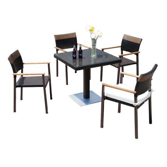 Waterproof Black Wicker Chair Garden
